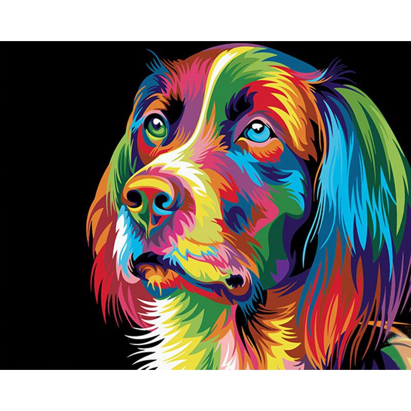 Malen nach Zahlen - Bunter Hund - Malen nach Zahlen EU