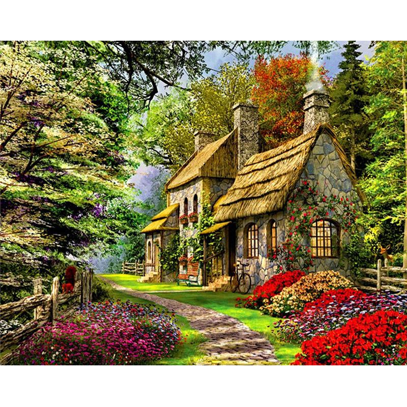 Malen Nach Zahlen Haus Im Wald