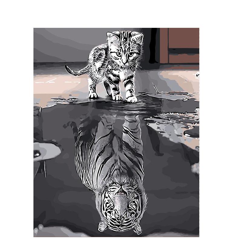 Malen nach Zahlen - Katze & Tiger - Malen nach Zahlen EU