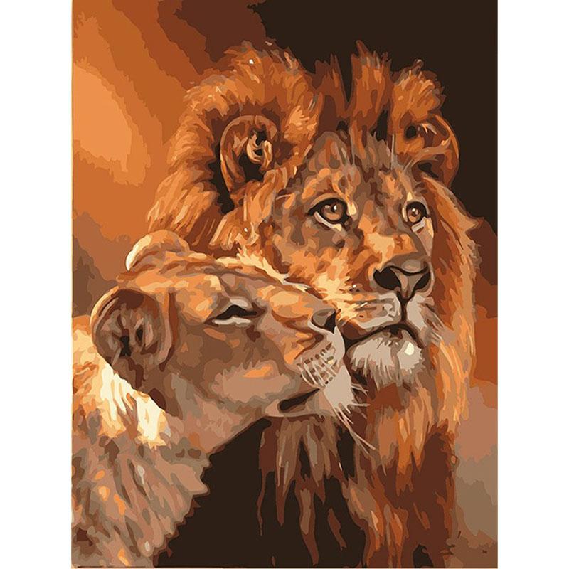 Malen Nach Zahlen Löwen
