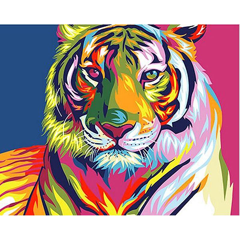 Malen Nach Zahlen Bunter Tiger