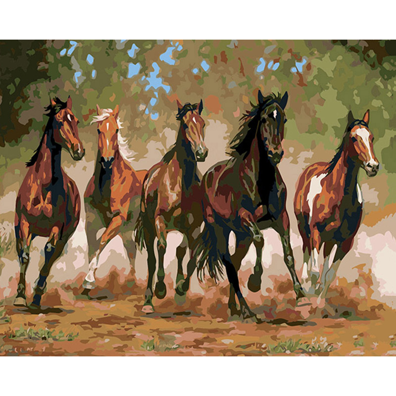 malen nach zahlen  fünf pferde  malen nach zahlen eu