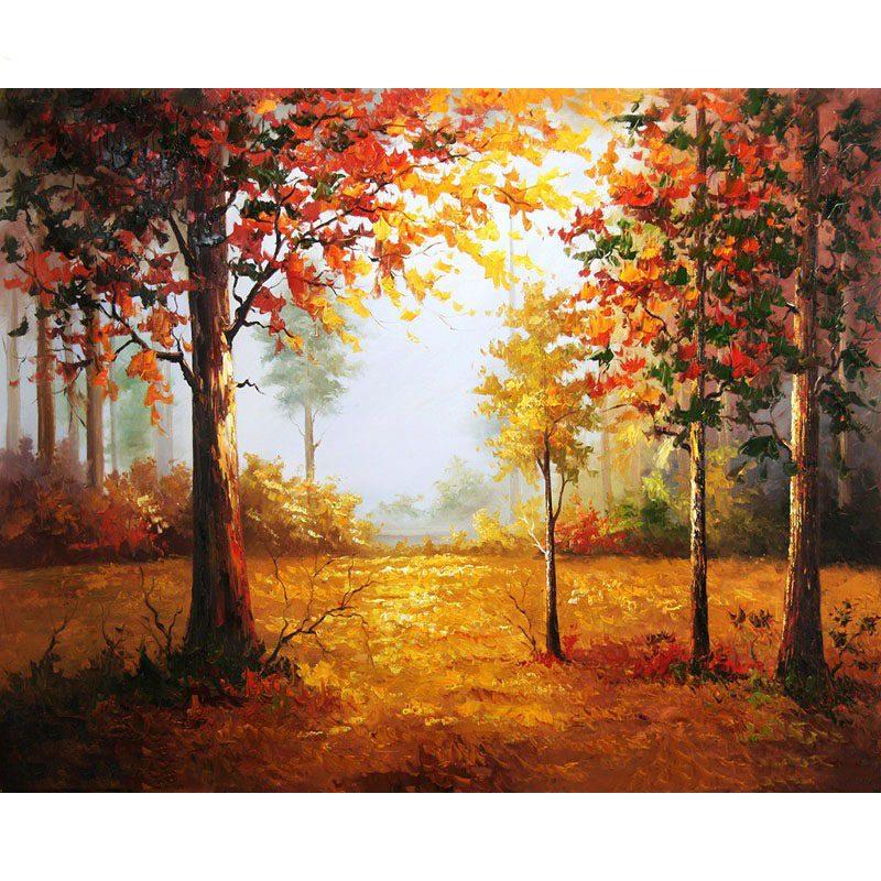 Malen Nach Zahlen Herbstwald Malen Nach Zahlen Eu