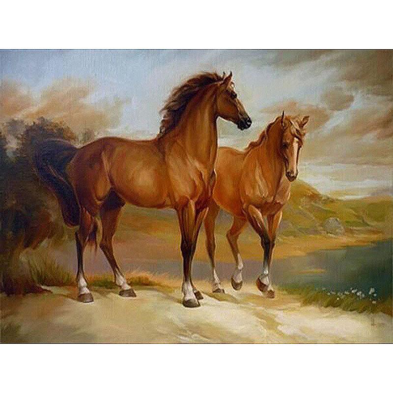 malen nach zahlen  zwei pferde  malen nach zahlen eu