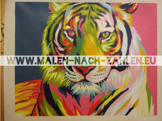Malen nach Zahlen - Bunter Tiger photo review