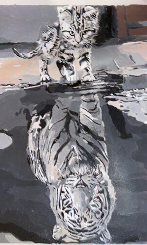 Malen nach Zahlen - Katze & Tiger photo review